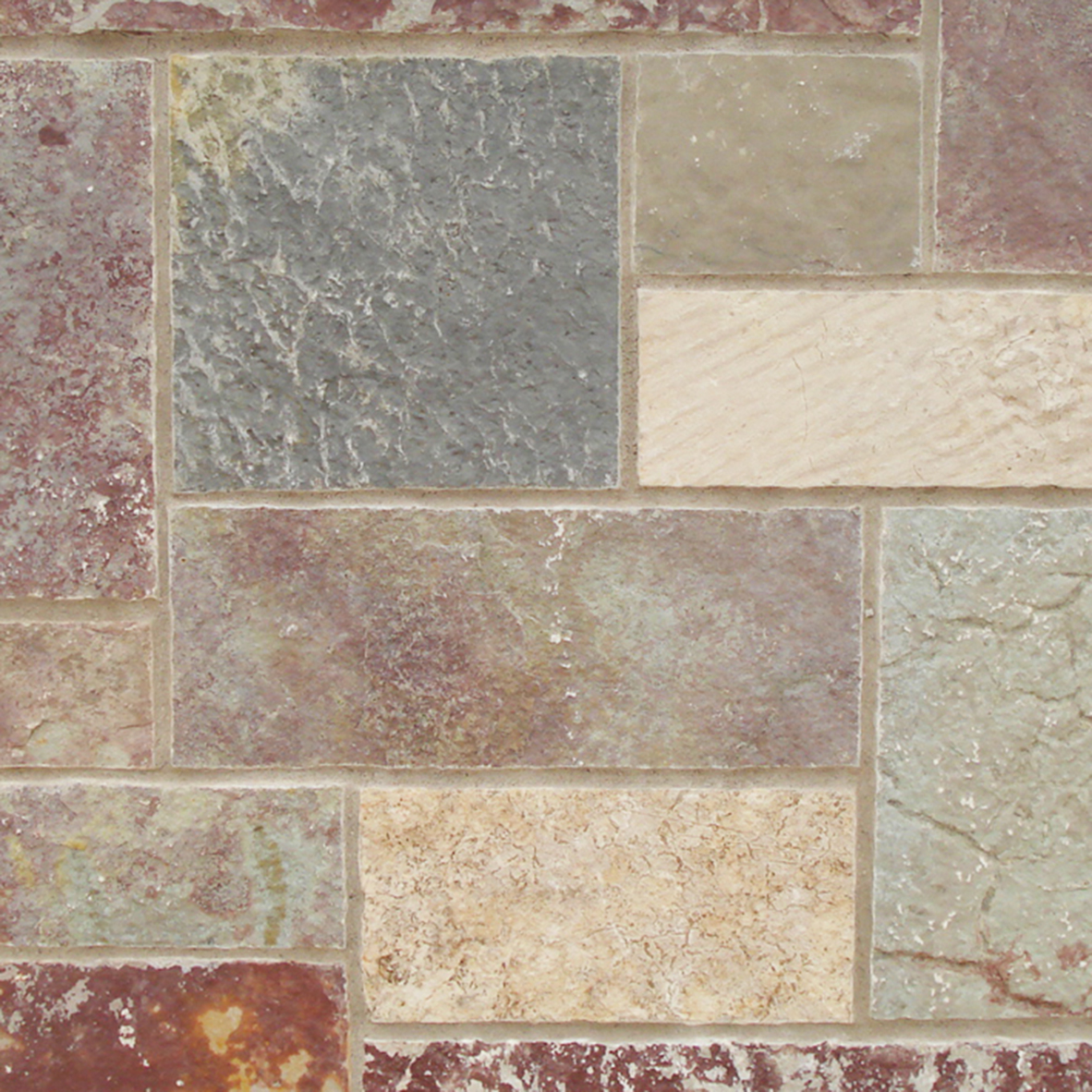 Stone Properties Rustic Royal Chateau Is A Non Dimensional Blend Made Up Of 100 Natural Bedface Material Snapped On All 4 Sides And Offers
