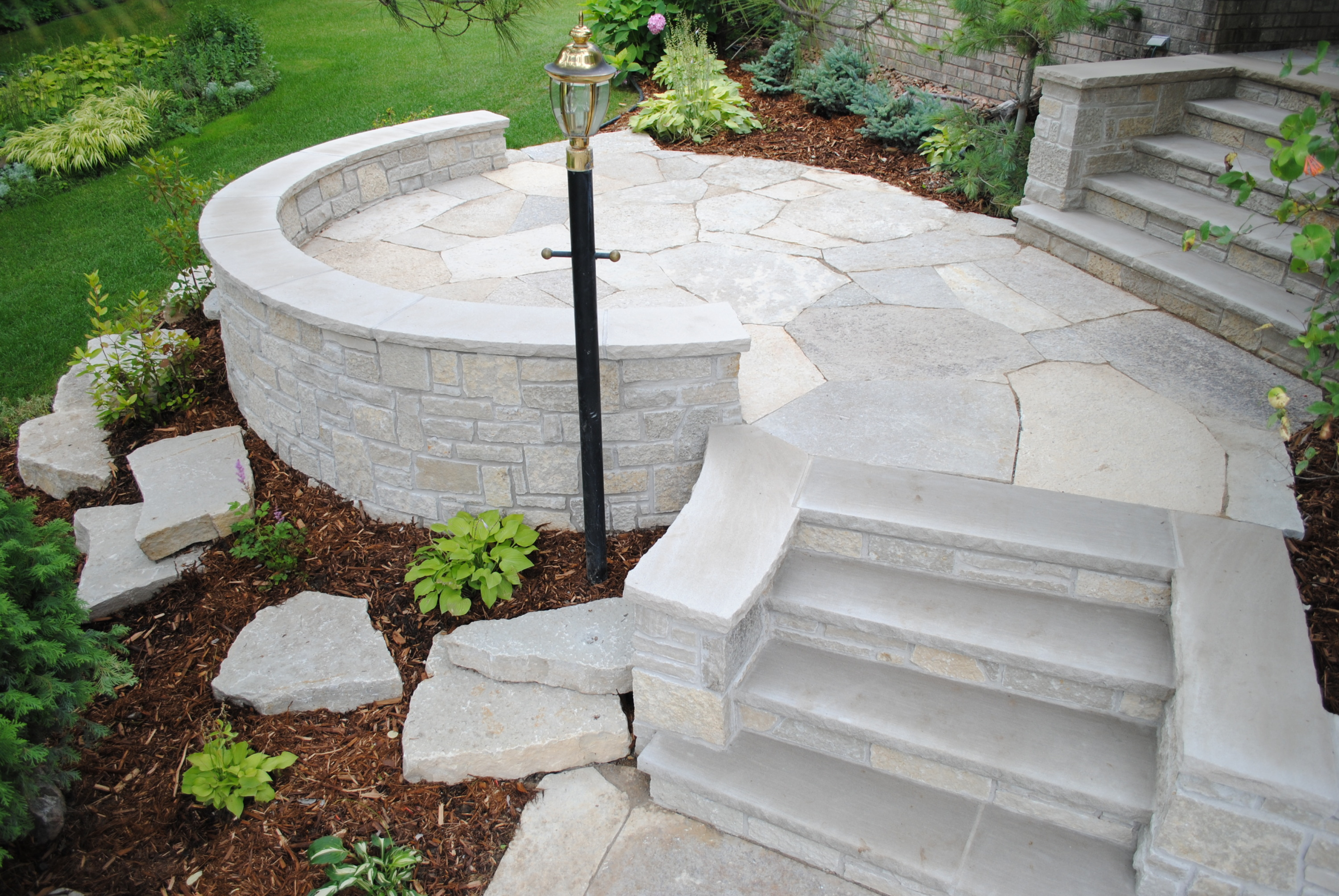 Oakfield Flagstone Is Light In Color And Ranges From Cream To Soft Gray.  The A Dimpled, Rugged Surface Of This Material Makes It A Great Choice For  Walk ...